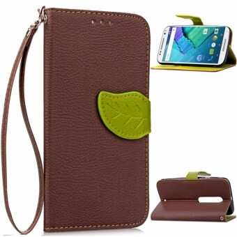 Harga Leaf Magnetic Premium PU Leather Case for Motorola Moto X Pure Edition / Moto X Style (2015)