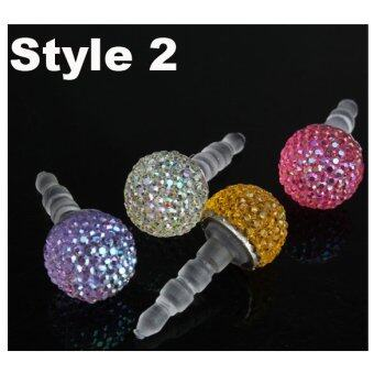 Harga 1pc 3.5mm Jack Dust Cover Crystal Ball Anti Dust Plug for iPhone 4 4S - intl