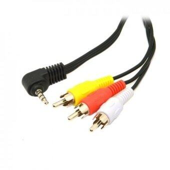 "Harga 3.5mm 1/8""Audio Video Cable Car AUX to 3 RCA AV Cord for Sony Walkman NWZ MP3 MP4 Media Player Camcorder"