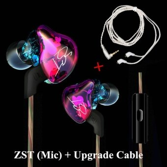 KZ ZST Coloful Version ZST Pro Earphone Hybrid Headset for Xiaomi/LG/iPhone Mobiles Hifi Earbuds 1DD+1BA Headphone With Microphone - intl