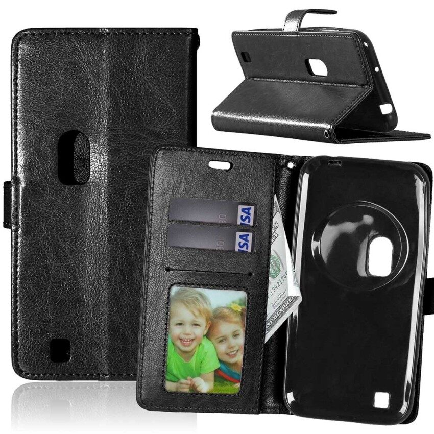 Leather Flip Stand Case Cover for Asus Zenfone Zoom ZX551ML (Black)- intl