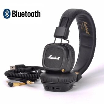 Major II Bluetooth Headphones Wireless Headset Foldable with Built-in Microphone and Remote Second Generation 2 (Black) - intl