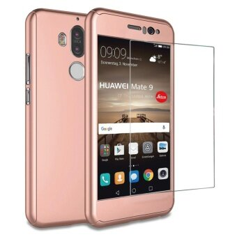 Mate 9 case , Mooncase 360° Full Protection Matte PC Hard HybridUltra thin Case + Tempered Glass for Huawei Mate 9 - intl