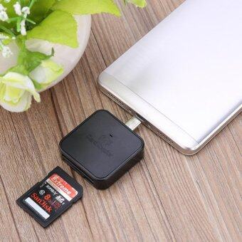 Micro USB 3-in-1 OTG Card Reader Adapter 8pin TF SD Micro For PhoneBlack - intl