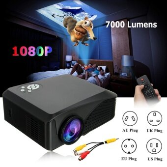 Harga Mini Support Portable Projector Home Theater Cinema Media Player BP-M400(H88) - intl
