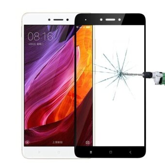 MOFI Xiaomi Redmi Note 4X 0.3mm 9H Hardness 2.5D Explosion-proofFull Screen Tempered Glass Screen Film(Black) - intl