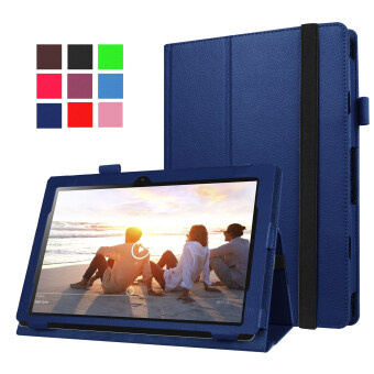 Moonmini PU Leather Cover for Lenovo MIIX 310 10.1 inch (Dark Blue) - intl