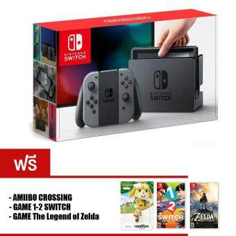 Nintendo Switch [Gray Joy-Con] + The Legend of Zelda: Breath of the Wild + 1-2-Switch + Amiibo 1 Unit