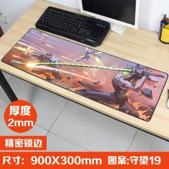 Overwatch Genji Junkrat Mouse Pads Computer Gaming Big Mouse Pad Reinhardt Winston Mouse Keyboard Pad Table Decoration 900*300 Mm - intl