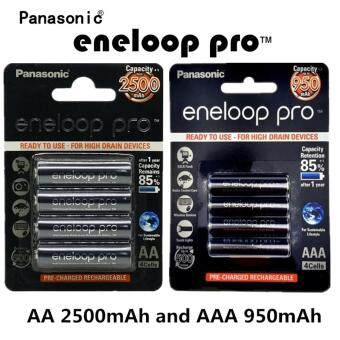 Panasonic eneloop AA 2500mAh Rechargeable battery ถ่านชาร์จ (แพ็คละ4 ก้อน) and Panasonic eneloop AAA 950mAh Rechargeable Battery(แพ็คละ 4 ก้อน)