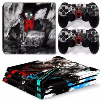 Harga สติ๊กเกอร์ PS4 Pro โปร Skin Sticker for PS4 Pro System Playstation 4 Pro Console with 2 Controller Skins