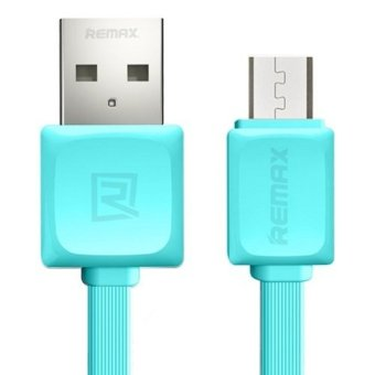 Remax 1M Quick Charge and Data Cable Micro USB for Samsung /Android รุ่น RC-008m (สีฟ้า)