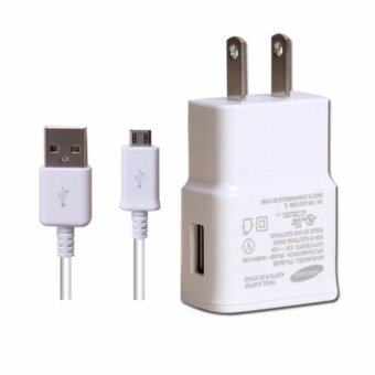 Samsung หัวชาร์จสำหรับSamsung Galaxy noet 3/S4/S5/S6 Home Wall Charger(White) สาย+หัวชาร์ทซัมซุง-44