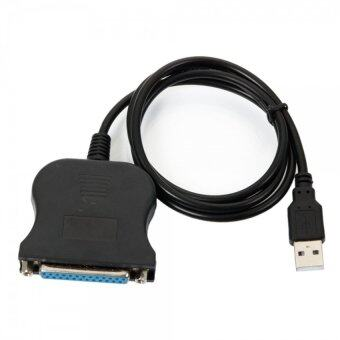 WanTeng สาย USB 2.0 to 25 Pin DB25 Parallel IEEE-1284 Printer Cable(สีดำ)