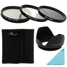 Xcsource ชุดเลนส์ Uv Cpl Nd4 Filter Set + Lens Hood 58mm สำหรับ Canon 70d 60d 700d 650d 600d.