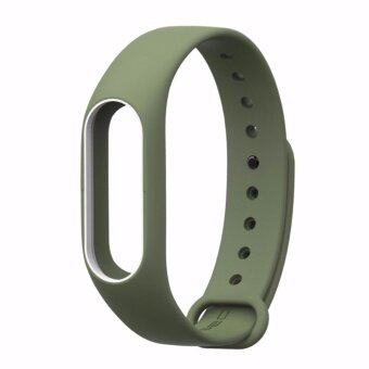 Xiaomi สายรัดข้อมือ Wristband Strap for Xiaomi Mi Band 2 (Navy Green White)