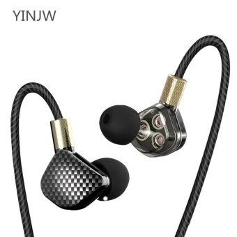YINJW P8 Three Dynamic Driver System Speakers HIFI Bass SubwooferIn Ear Stereo Sports Earphone Monitor 3DB Earbud Headset withoutMicrophone - intl