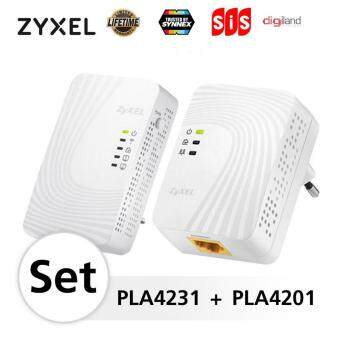 ZyXEL PLA4231 Bundle : PLA4231 - 600Mbps Powerline with WiFi + PLA4201 - 600Mpbs Powerline Fast EthernetStarter Starter Kit 1set 2ชิ้น -LifeTime (By Synnex,SIS,DigiLand)