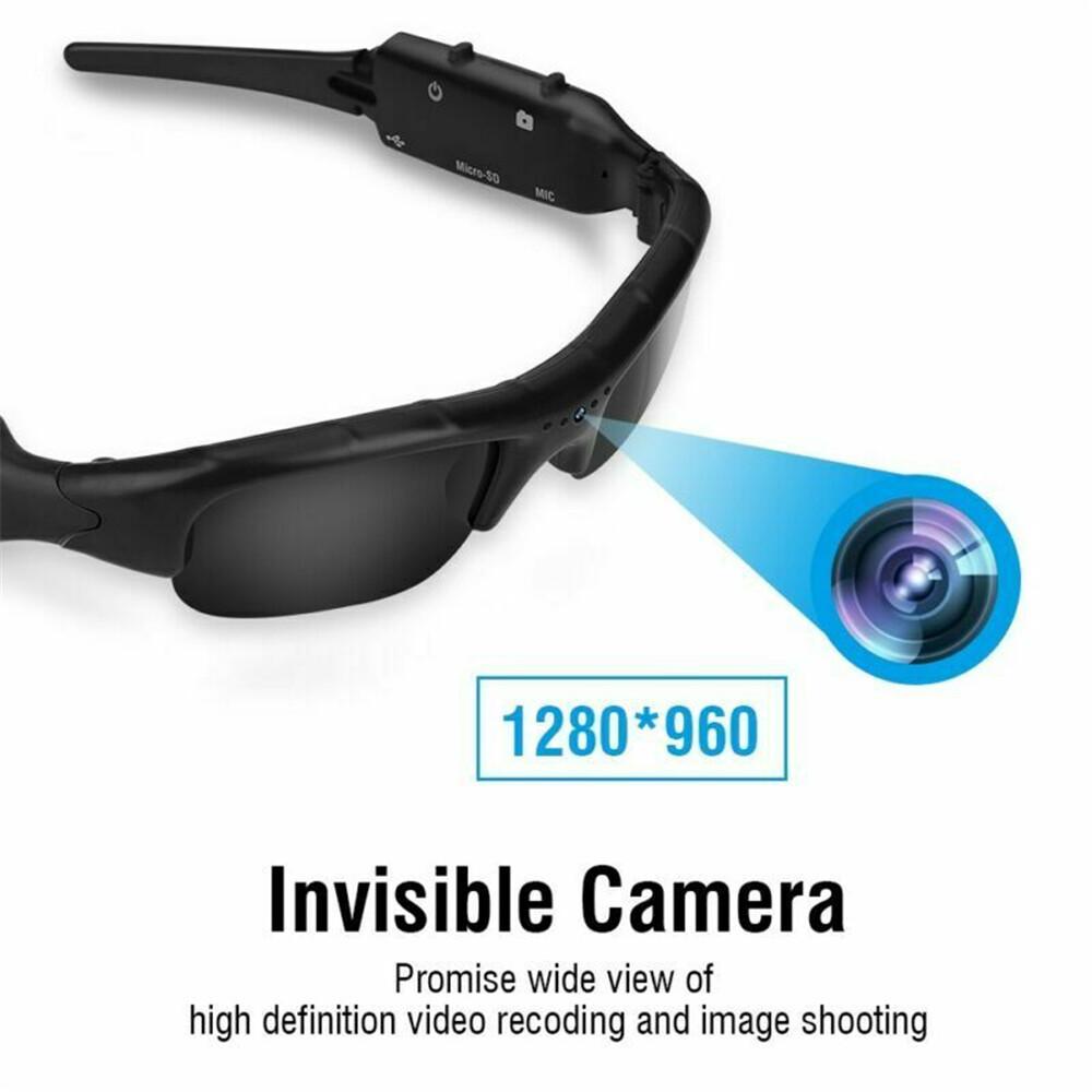 Original Spy แว่นตากันแดดกล้อง 1080p Hd น้ำหนักเบา Dvr แว่นตากันแดดกล้อง Tf เครื่องบันทึกวิดีโอเสียงขนาดเล็กเครื่องบันทึกวิดีโอขนาดเล็กคุณภาพสูงแว่นตาที่มีสไตล์สำหรับผู้ใหญ่.