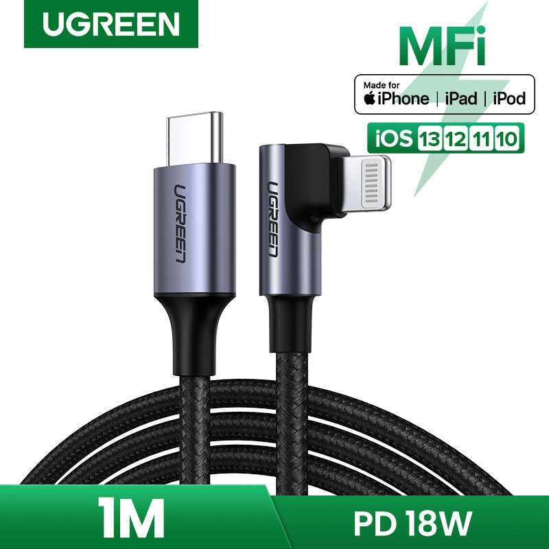 【Certified by Apple】UGREEN USB C to Lightning Cable Nylon Braided 20W Fast PD Charge for iPhone12 12 pro, iPhone 11 Pro MAX, 11 Pro 11 X XS XR XS Max 8, iPad Pro 10.5 /12.9