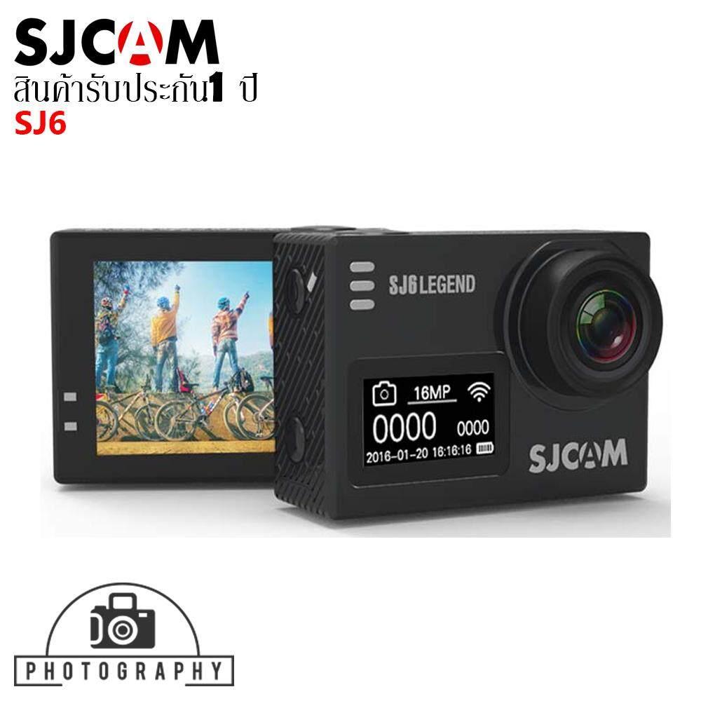 Sjcam Sj6 Legend Wifi 16mp 4k เมนูไทย จอ 2 นิ้ว ของแท้ สีดำ Black (ของแท้) รับประกัน 1 ปี.