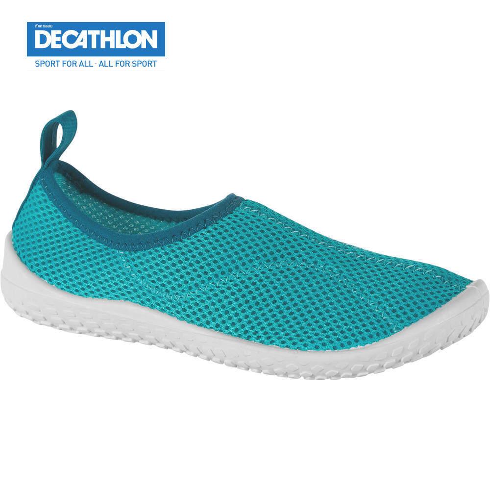 รองเท้าลุยน้ำ Aqua Shoes Subea สำหรับเด็ก รุ่น 100 (สีฟ้า Turquoise) ดีแคทลอน.