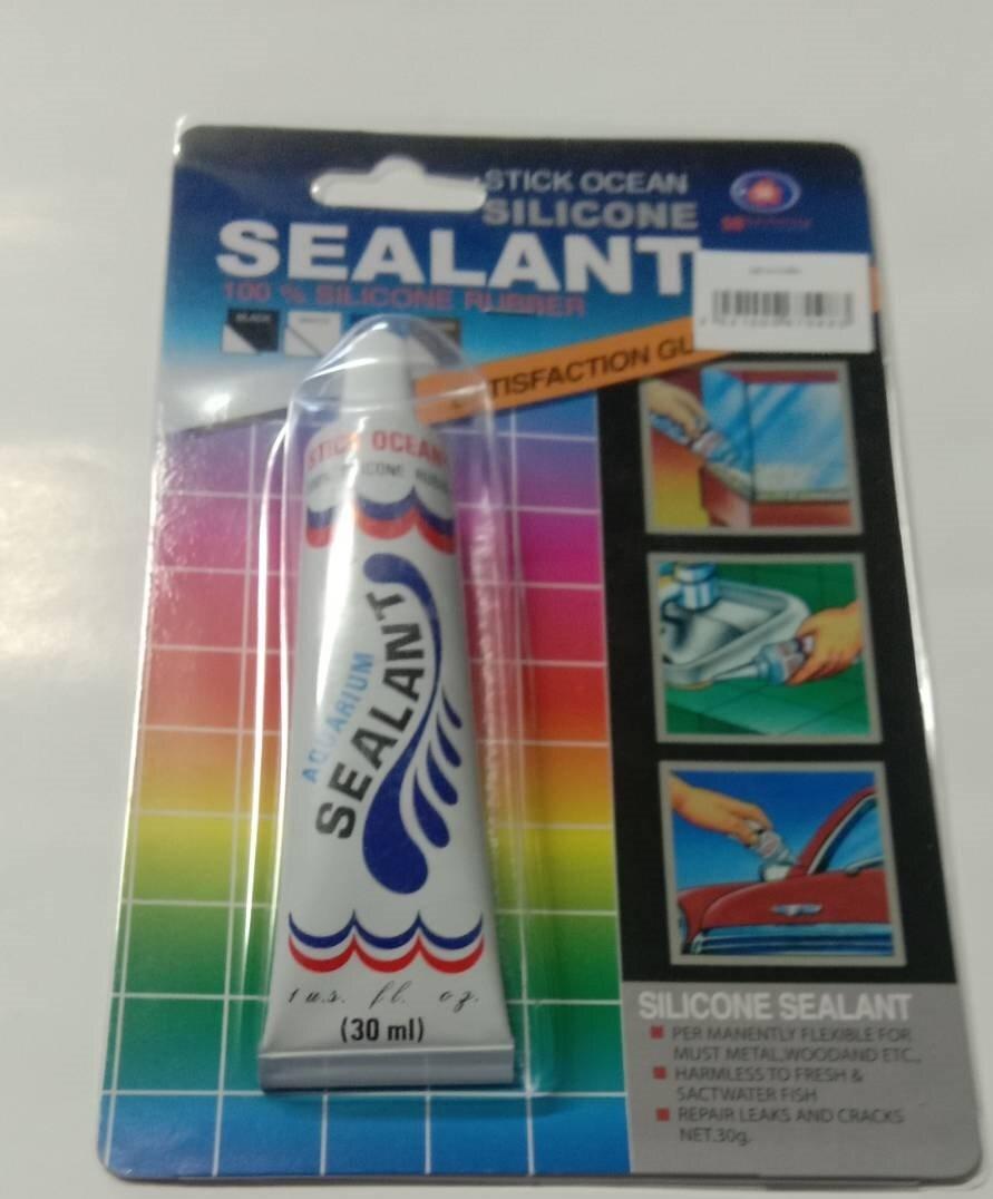 กาวตู้ปลา-ซ่อมตู้รั่วซึม SB Sealant slicone กาวซิลิโคนอเนกประสงค์ สีใส 30ml