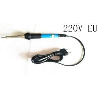 60W Temperature Adjustable Electric Welding Solder Soldering IronSoldering Tool Handle Heat Pencil Tool Whole Blue 220