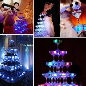 Harga 7 Colorful LED Waterproof Flash Ice Light Ice Cubes WaterSubmersible Party - intl