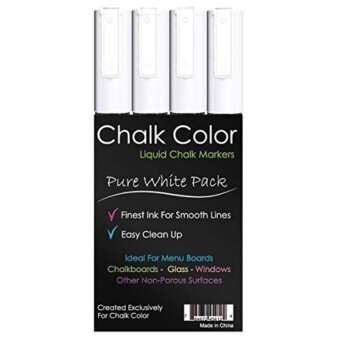 Harga Chalk Color: ปากกาชอล์ก Markers White 4 Pack Liquid Ink Pens