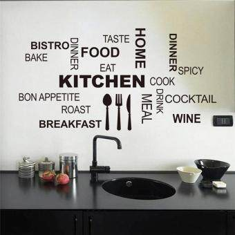 creative kitchen cook wall stickers home decor vinyl decalswallpaper mural art posters - intl