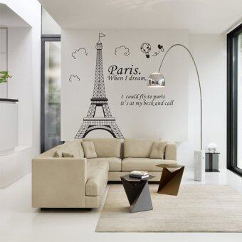 Harga Diy Romantic Wall Stickers Paris Eiffel Tower France BellawallDecoration - Intl(...) intl