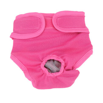 Dog Cotton Solid Color Physiological Pants Velcro Pet UnderwearDiapers Female Sanitary Panty