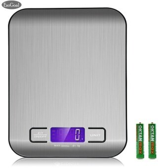 Harga EsoGoal Digital Kitchen Scale Multifunction Food Scale, 11 lb 5 kg,Silver, Stainless Steel - intl