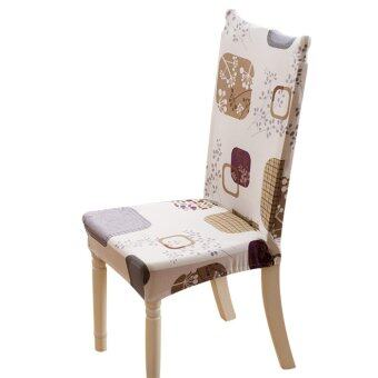 Flower Printing Spandex Stretch Dining Chair Cover Restaurant -intl