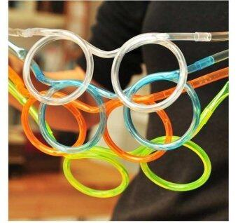 991b1d6b0b8 Funny Soft Glasses Straw Unique Flexible Drinking Tube Kids  PartyAccessories - intl