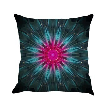 Geometry Painting Linen Cushion Cover Throw Pillow Case Sofa Home Decor C - intl