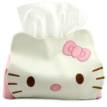 ilovebaby Cute Pink Cat Car Room Tissue Storage Box Cover Holder