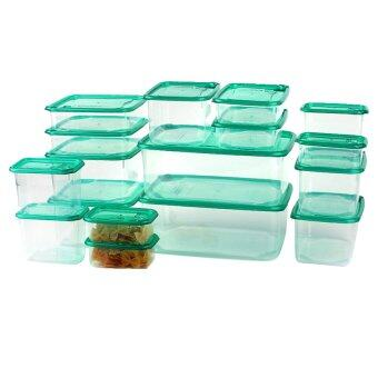 Harga moob Plastic Fresh Food Container Microwavable Foodsavers with Lids 17pcs (Blue) (Intl)