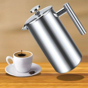 Harga Sunweb Coffee Maker 1000Ml Double Wall Stainless Steel Diy Coffee Presses With One Replacement Filter Screen ( Silver )
