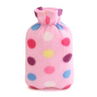 Harga Relaxing Hot Water Bottle Flannel Plush Removable Cover Warm Home Bag Soft Gifts pink - intl