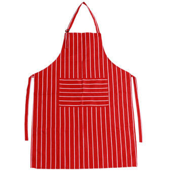 Harga Yingwei Kitchen Aprons Striped Aprons Red/White
