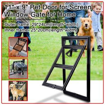 Harga XCSOURCE 11 x 9 Pet Door Dog Cat Kitty Black Door for Screen Window Gate for Home PS043