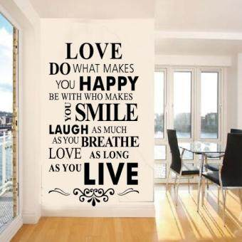 Harga YBC Wall Stickers Custom In English 8083 86 56cm Love House Rule Zooyoo