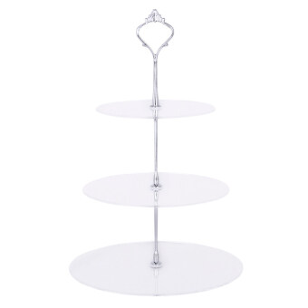 Harga Ris Clear Acrylic Circle Round Cupcake Stand Birthdaywedding Party Display - intl