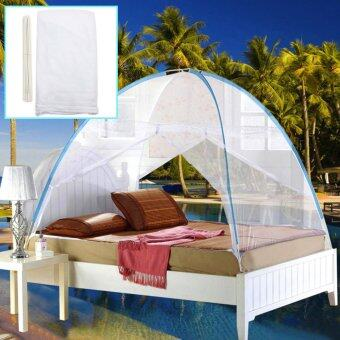Harga White Yurt Canopy Mosquito Net Mesh Tent For Twin Queen Small King Bed Size - Intl