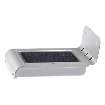 Harga YY-001 Waterproof 16-LEDs Solar Powered Motion Sensor Outdoor LED Security Light Garden Light Yarn Light Lamp