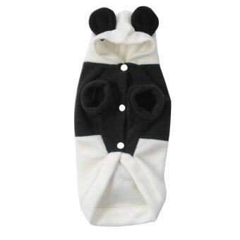 Harga Cute Fleece Panda Clothes Warm Coat Costume Outwear Apparel for Pet Dog Cat