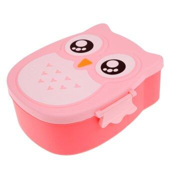 Harga Cartoon Owl Lunch Box Food Fruit Storage Container Portable Bento Box(Pink) (Intl)