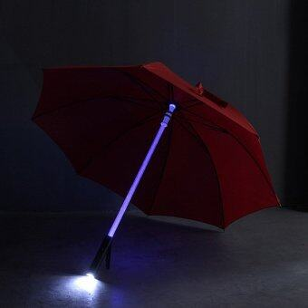 Harga Cool Light Saber LED Steady on/fast Flashing Light Up Umbrella Night Protection Red